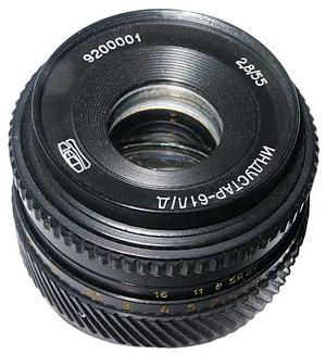 Штатный объектив опытной партии фотокамер ФЭД-6TTL производства Харьковского завода ФЭД, 1992 год.